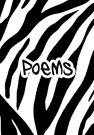 Zebra striped poem book for writing poems